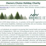 Owners Choice Holiday Charity